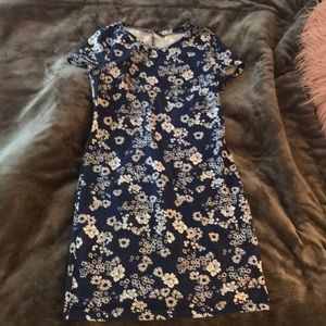 Floral casual bodycon summer dress